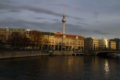 berlim A torre da tevê Foto de Stock Royalty Free