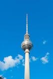 Berlinês Fernsehturm Fotografia de Stock
