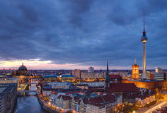 Berlin à l'aube Photos libres de droits