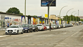 berlin östlig gallerisida Fotografering för Bildbyråer