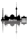Berlin. Nice detailed silhouettes of Berlin Royalty Free Stock Image