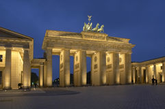 Berlin. Brandenburger Tor by night, Berlin, Germany stock photography