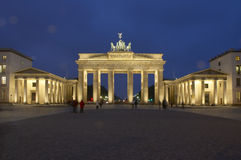 Berlin. Brandenburger Tor by night, Berlin, Germany royalty free stock image