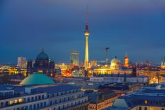 Berlin aerial view, Germany royalty free stock images