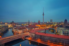 Berlin aerial view, Germany Stock Photos