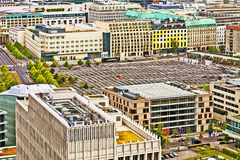 Berlin, aerial view of  the Holocaust memorial Royalty Free Stock Photos