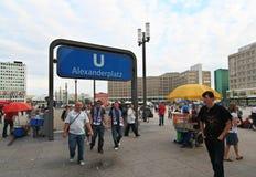 Berlin Alexanderplats Stock Image