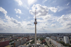 Berlin alexanderplatz germany from above Stock Photography