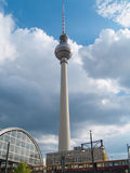Berlin, Alexanderplatz train station and TV tower Stock Photo