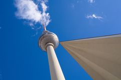Berlin Alexanderplatz with TV tower Stock Photo