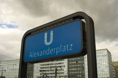 Berlin Alexanderplatz with TV tower Stock Photography