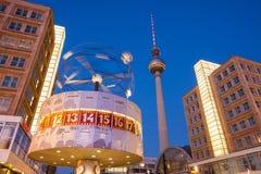 Berlin Alexanderplatz and World Clock Royalty Free Stock Image