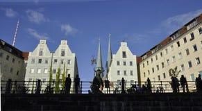 Berlin, Allemagne 27 août : Banque de fête de rivière par le verre de Berlin en Allemagne Images libres de droits