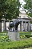 Berlin, Allemagne 27 août : Lion Statue de musée de Pergamon de Berlin en Allemagne Photos stock