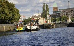 Berlin, Allemagne 27 août : Paysage de fête de rivière de Berlin en Allemagne Images libres de droits