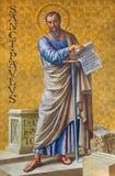 BERLIN, ALLEMAGNE, FÉVRIER - 14, 2017 : Le fresque St Paul l'apôtre en église de Herz Jesus Photos libres de droits