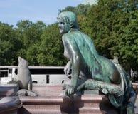 Berlin, Allemagne Fragment de la fontaine de Neptune et du x28 ; Neptunbrunnen& x29 ; au centre de la ville Photo stock