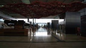 BERLIN, ALLEMAGNE - 17 janvier 2015 : À l'intérieur de des JUJUBES de Berlin Brandenburg Airport, encore terminal en construction Photos libres de droits