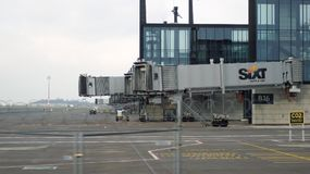 BERLIN, ALLEMAGNE - 17 janvier 2015 : JUJUBES de Berlin Brandenburg Airport, encore terminal en construction et vide et Photos libres de droits