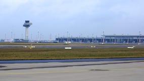 BERLIN, ALLEMAGNE - 17 janvier 2015 : JUJUBES de Berlin Brandenburg Airport, encore terminal en construction et vide Images stock