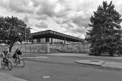 BERLIN, ALLEMAGNE - JUILLET 2015 : Vue extérieure du Neue Nationa Photo libre de droits