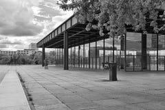 BERLIN, ALLEMAGNE - JUILLET 2015 : Vue extérieure du Neue Nationa Photos libres de droits