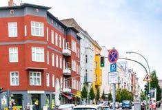 BERLIN, ALLEMAGNE 7 octobre : Vue typique de rue le 7 octobre 2016 Photo stock