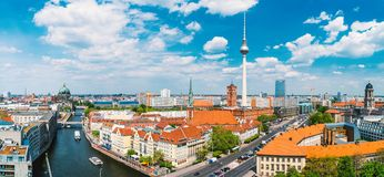 Berlin, Allemagne, pendant l'été image stock