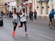 BERLIN, ALLEMAGNE - 16 SEPTEMBRE 2018 : Record mondial de Kenyan Runner Eliud Kipchoge Running chez Berlin Marathon 2018 image stock