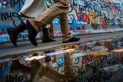 Berlin, Allemagne - 21 septembre 2015 : Berlin Wall East Side Gallery photographie stock