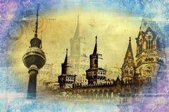 Berlin art texture illustration Royalty Free Stock Photos