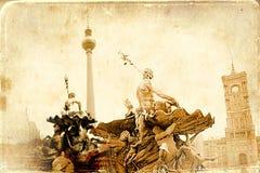 Berlin art texture illustration Stock Images