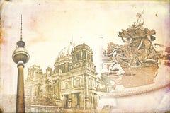 Berlin art texture illustration Stock Image