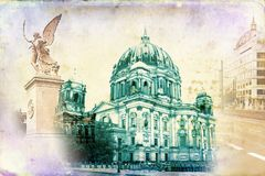 Berlin art texture illustration Stock Photo