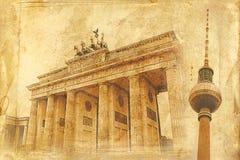 Berlin art texture illustration Royalty Free Stock Photo