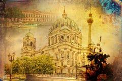 Berlin art texture illustration Royalty Free Stock Images