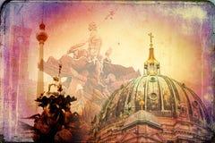 Berlin art texture illustration Royalty Free Stock Image