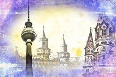 Berlin art texture illustration Royalty Free Stock Photography
