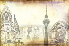 Berlin art texture illustration Stock Photos