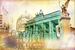 Berlin art texture illustration Stock Photography