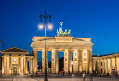 Berlin - AUGUST 4, 2013: Brandenburg Gate on Royalty Free Stock Photo