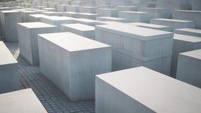 BERLIN - AUGUST 21: Real time pan shot of Holocaust Memorial, close up