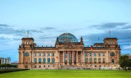 Reichstag building in Berlin, Germany. BERLIN - AUGUST 20, 2017: Reichstag building on August 20, 2017 in Berlin, Germany. It`s a historical edifice constructed royalty free stock photography