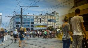 BERLIN - August: World clock in Alexanderplatz, Germany