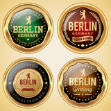 Berlin badge collection. Set of Berlin city badges Royalty Free Stock Photo