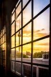 Berlin-Bahnstationshintergrundbeleuchtung Stockbild