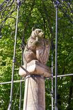 Berlin Bear monument near Nikolaikirche church. In Germany Stock Photos