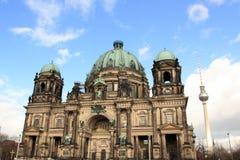 berlin berliner dom basztowy tv Zdjęcia Stock