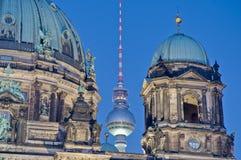 berlin berliner domkyrkadom germany Arkivbild