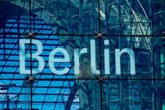 Berlin-Beschriftung Stockbild